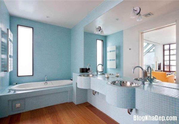 6 1399202692 Căn nhà tươi mát với nội thất màu xanh dương