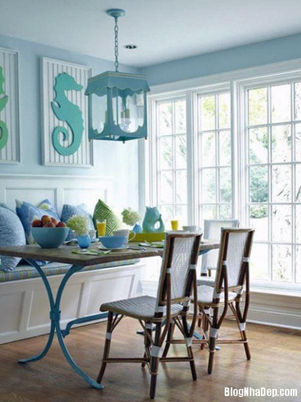 9 1399202810 Căn nhà tươi mát với nội thất màu xanh dương