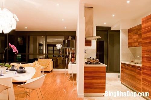 Bep an01 7398 1395467079 Ngôi nhà hiện đại với nội thất đơn giản ở Hà Nội