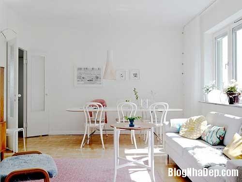 Can ho Scandinavia tuyet dep 17 Căn hộ quyến rũ với phong cách Scandinavia và giấy dán tường