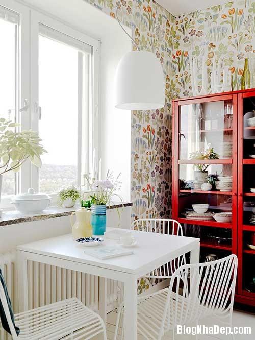 Can ho Scandinavia tuyet dep 4 Căn hộ quyến rũ với phong cách Scandinavia và giấy dán tường