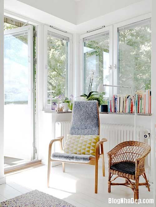 Can ho Scandinavia tuyet dep 6 Căn hộ quyến rũ với phong cách Scandinavia và giấy dán tường