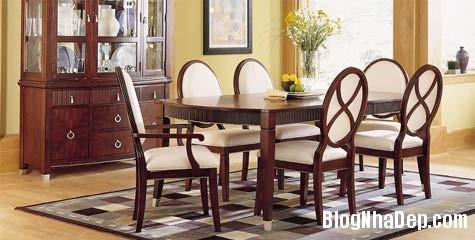 Chất liệu gỗ là chủ đạo trong thiết kế phòng ăn này Bài trí không gian phòng ăn nhỏ hẹp