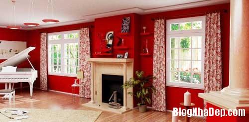 Khong gian ngay tho hoa lan dam me 10 Trang trí nội thất theo phong cách trắng và đỏ