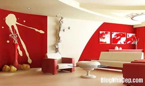 Khong gian ngay tho hoa lan dam me 11 Trang trí nội thất theo phong cách trắng và đỏ