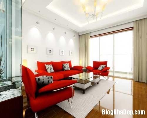 Khong gian ngay tho hoa lan dam me 12 Trang trí nội thất theo phong cách trắng và đỏ