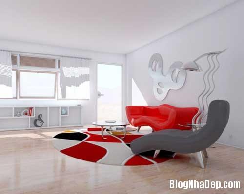 Khong gian ngay tho hoa lan dam me 14 Trang trí nội thất theo phong cách trắng và đỏ