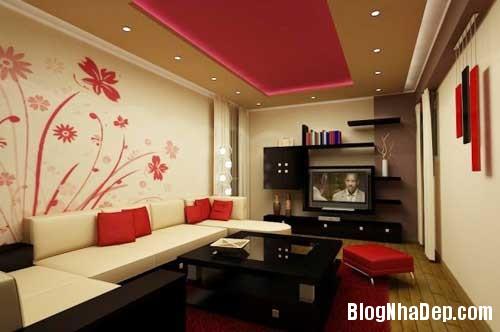 Khong gian ngay tho hoa lan dam me 15 Trang trí nội thất theo phong cách trắng và đỏ
