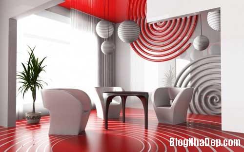 Khong gian ngay tho hoa lan dam me 4 Trang trí nội thất theo phong cách trắng và đỏ