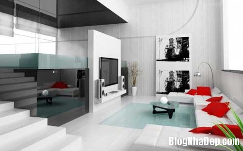 Khong gian ngay tho hoa lan dam me 5 Trang trí nội thất theo phong cách trắng và đỏ