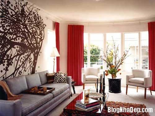 Khong gian ngay tho hoa lan dam me 6 Trang trí nội thất theo phong cách trắng và đỏ