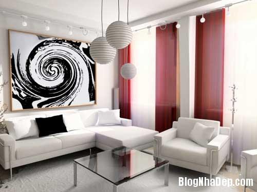 Khong gian ngay tho hoa lan dam me 7 Trang trí nội thất theo phong cách trắng và đỏ