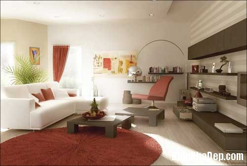 Khong gian ngay tho hoa lan dam me 8 Trang trí nội thất theo phong cách trắng và đỏ