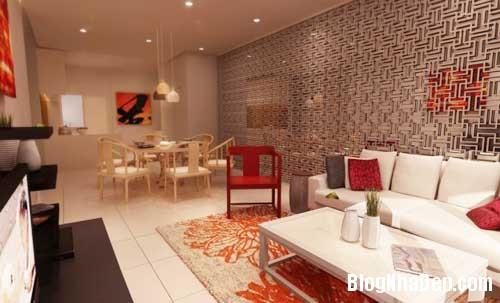 Khong gian ngay tho hoa lan dam me 9 Trang trí nội thất theo phong cách trắng và đỏ