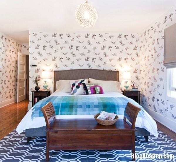 Phong cach trang tri noi that xuan he lay cam hung tu ch 013 Trang trí nhà với giấy dán tường họa tiết chim muông