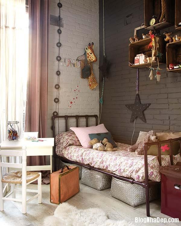 Sac hong trong phong cach Vintage 10 Ngôi nhà cổ điển với nội thất màu hồng