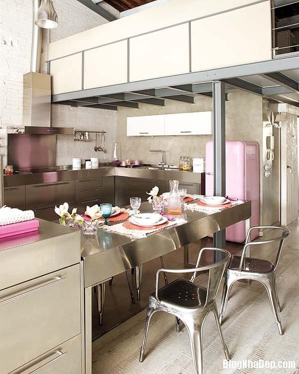 Sac hong trong phong cach Vintage 6 Ngôi nhà cổ điển với nội thất màu hồng