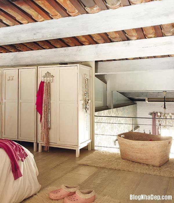 Sac hong trong phong cach Vintage 9 Ngôi nhà cổ điển với nội thất màu hồng