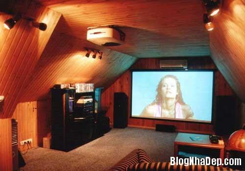 Thiet ke phong chieu phim trong nha 2 Thiết kế rạp chiếu phim thu nhỏ trong nhà
