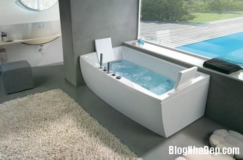angular bathtub with head rest 665x440 500x3301 Mê mẩn với những thiết kế phòng tắm đẹp như ở spa