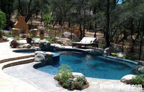 be boi ly tuong cho mua he 3 Trang trí không gian bể bơi cho gia đình