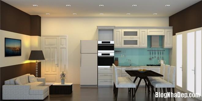 can ho 35m2 1 1401784886 660x0 Bài trì nội thất tiện nghi trong căn hộ nhỏ với chi phí vừa phải