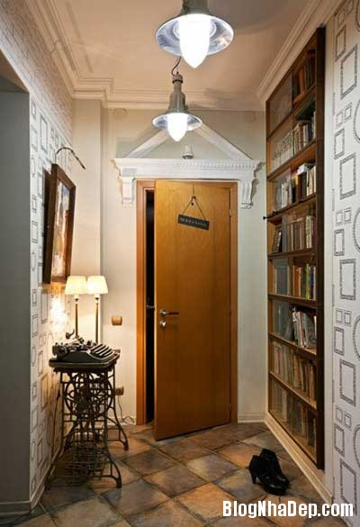 chung cu xinh 1 Phong cách cổ điển kết hợp hiện đại cho chung cư 70m2