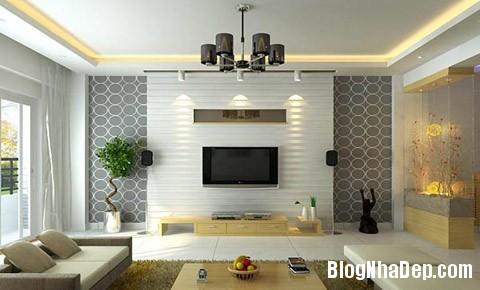 diem nhan tuong phong khach 3 Tạo điểm nhấn đẹp cho phòng khách