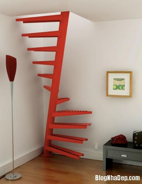 eestairs space saving spiral staircase Những mẫu cầu thang tiết kiệm diện tích cho nhà nhỏ