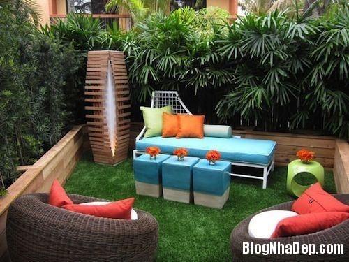 file.407601 Bài trí sân vườn với hàng rào cây xanh