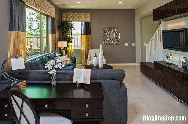 file 00517 Kết hợp màu xám và vàng trong trang trí nội thất phòng khách