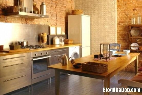 file 00717 Thiết kế không gian bếp ấm áp với nội thất gỗ