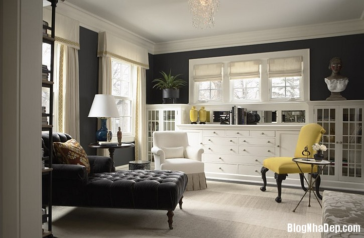file 01018 Kết hợp màu xám và vàng trong trang trí nội thất phòng khách