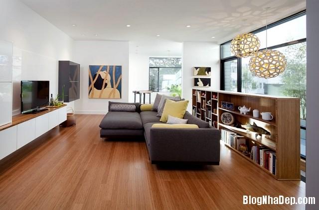 file 01215 Kết hợp màu xám và vàng trong trang trí nội thất phòng khách