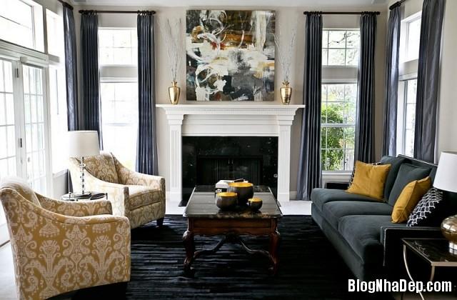 file 01316 Kết hợp màu xám và vàng trong trang trí nội thất phòng khách