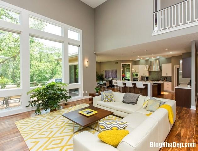 file 0221 Kết hợp màu xám và vàng trong trang trí nội thất phòng khách
