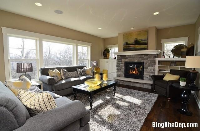 file 0231 Kết hợp màu xám và vàng trong trang trí nội thất phòng khách
