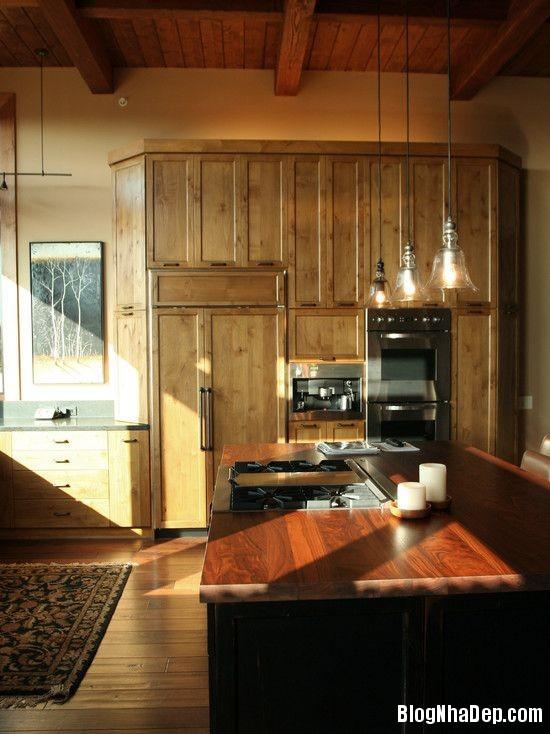 file 0251 Thiết kế không gian bếp ấm áp với nội thất gỗ