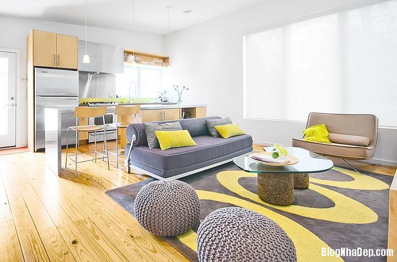file 026 Kết hợp màu xám và vàng trong trang trí nội thất phòng khách