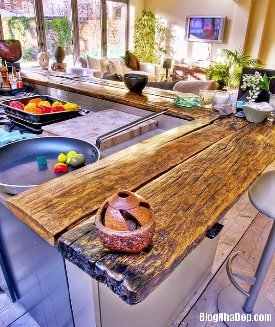 file 037 Thiết kế không gian bếp ấm áp với nội thất gỗ