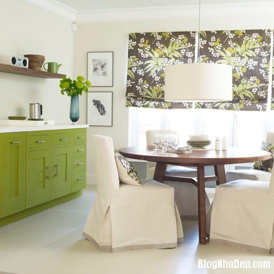 goc bep dep hon voi sac xanh tuoi mat3 Làm mát không gian nhà bếp với sắc xanh