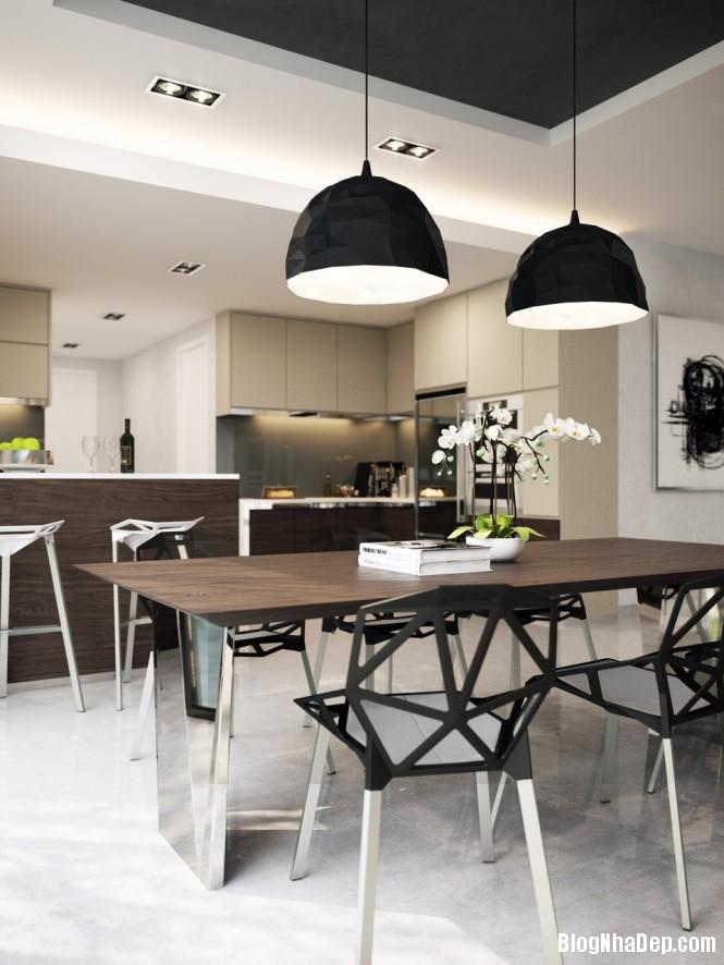 httpdepcomvnuploadedphuongnth20120831blackwhitediningroom665 Mẫu thiết kế đẹp cho không gian ăn uống