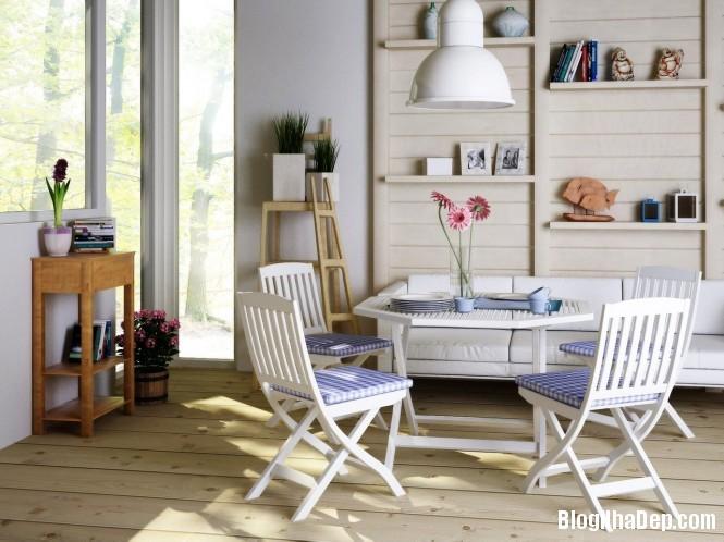 httpdepcomvnuploadedphuongnth20120831bluewhitediningarea665x Mẫu thiết kế đẹp cho không gian ăn uống