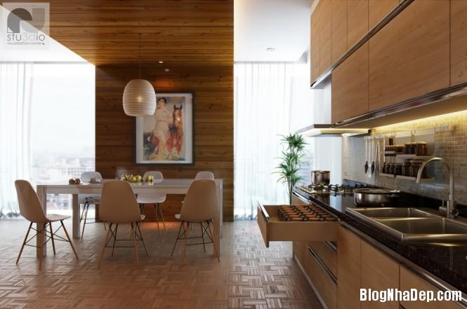 httpdepcomvnuploadedphuongnth20120831modernkitchendiner1665x Mẫu thiết kế đẹp cho không gian ăn uống