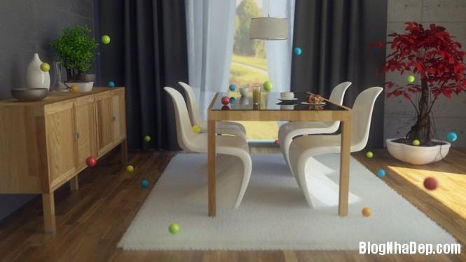 httpdepcomvnuploadedphuongnth20120831modernwhitepinediningro Mẫu thiết kế đẹp cho không gian ăn uống