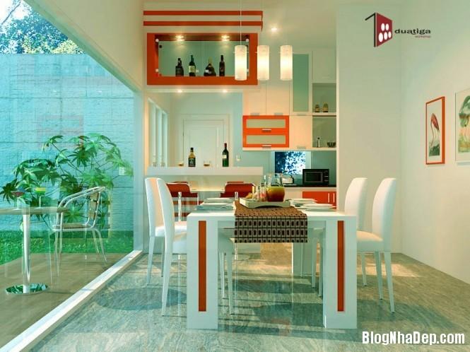 httpdepcomvnuploadedphuongnth20120831redwhitediningroom665x4 Mẫu thiết kế đẹp cho không gian ăn uống