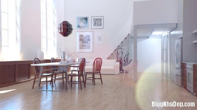 httpdepcomvnuploadedphuongnth20120831redwhiteloungediner665x Mẫu thiết kế đẹp cho không gian ăn uống