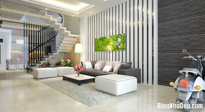 nha pho1 Trang trí nội thất cho căn nhà 3 tầng diện tích 80 m2