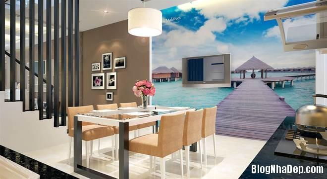 nha pho4 Trang trí nội thất cho căn nhà 3 tầng diện tích 80 m2