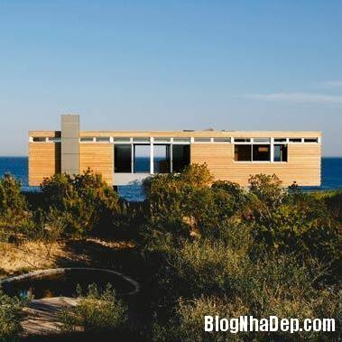 nha ben bo bien2 Ngắm ngôi nhà gỗ xinh xắn bên bờ biển
